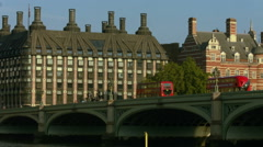 Old Scotland Yard Buildings and Westminster Bridge WS. HD version Stock Footage