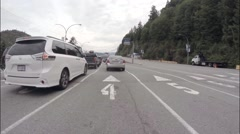 Horseshoe Bay Ferry Terminal. Time Lapse of a cars loading onto a ferry. Stock Footage