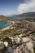 Stock Photo of view on arkassa, paleokastro and agios nikolaos, karpathos, aegean islands, a