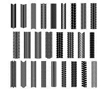 tire shapes set - stock illustration