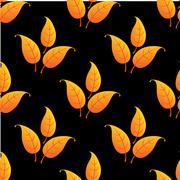 Autumnal leaves seamless pattern Stock Illustration