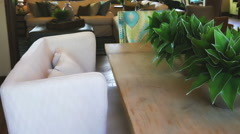 Interior room for Breakfast Stock Footage