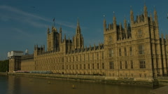Houses of Parliament from Westminster Bridge static 01 HD - stock footage