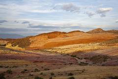 Stock Photo of coloured rocks, rainbow vista, valley of fire state park, nevada, usa