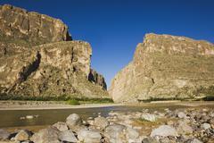 Santa elena canyon and rio grande river, chisos mountains, big bend national  Stock Photos