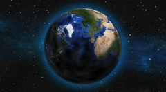 Earth Zoom from space to New York City Stock Footage