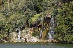 roski slap, krka waterfalls, krka national park, dalmatia, croatia, europe - stock photo