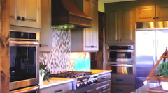 The interior of the kitchen Stock Footage