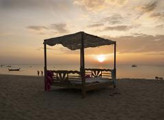 Evening mood on hat phra ae beach on the island of ko lanta, andaman sea, kra Stock Photos