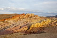 Stock Photo of coloured rocks, rainbow vista, valley of fire state park, nevada, usa