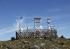 Weather station on mt. patscherkofel, tux alps, tyrol, austria, europe Stock Photos