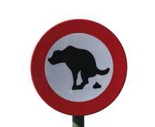 No dog feces, sign Stock Photos