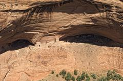 Stock Photo of antelope house overlook, ruins of an ancient native american settlement, cany