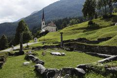 Stock Photo of excavation, early christian church, st. peter and paul church, kirchbichl of
