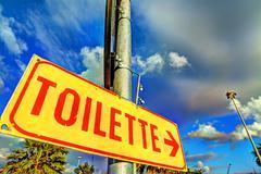 toilette metal sign - stock photo