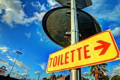 Toilette sign Stock Photos