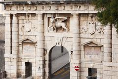 land gate, porta terraferma, zadar, dalmatia, croatia, europe - stock photo