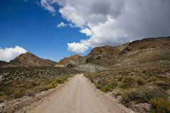 Earth road to the titus canyon, death valley national park, mojave desert, ca Stock Photos