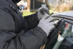 Car burglar Stock Photos