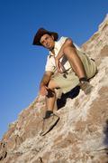 young man, 25 +, in the atacama desert, chile, south america - stock photo