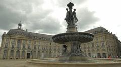 Place De La Bourse - Bordeaux France - HD 4k+ Stock Footage