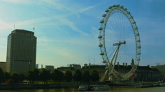 London Eye and Shell Building WS static 01 HD Stock Footage