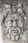 Relief of a face, roman forum, zadar, dalmatia, croatia, europe Stock Photos