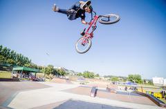 Rodrigo vicente during the dvs bmx series 2014 by fuel tv Stock Photos