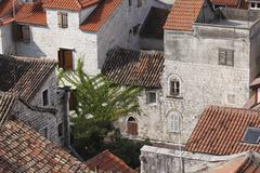 View from the spire of the cathedral, trogir, dalmatia, croatia, europe Stock Photos