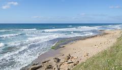 windy shore - stock photo
