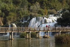 Stock Photo of skradinski buk, krka waterfalls, krka national park, aeibenik-knin, dalmatia,