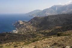 Stock Photo of agios nikolaos at spoa, karpathos island, aegean islands, aegean sea, dodecan