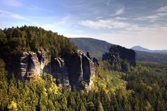 Stock Photo of rocky landscape, saxon switzerland, saxony, germany, europe