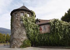 iselturm tower, lienz, east tyrol, tyrol, austria, europe - stock photo
