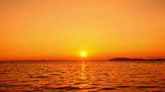 Tropical sea sunset Stock Footage
