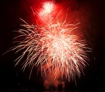 height fireworks at the seenachtfest lake festival at lake constance in baden - stock photo
