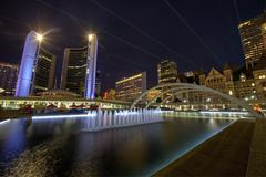 Nathan phillips square in toronto Stock Photos