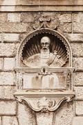 Bust on the outer wall of the city guard, zadar, dalmatia, croatia, europe Stock Photos