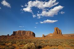 view from john ford point, monument valley, colorado plateau, navajo nation r - stock photo