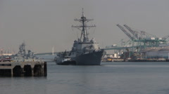 US Navy Guided Missile Destroyer Stock Footage