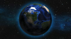 Earth Zoom from space to Hollywood, California Stock Footage