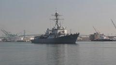 Guided Missile Destroyer Spruance DDG-111 Stock Footage