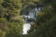 skradinski buk, krka waterfalls, krka national park, aeibenik-knin, dalmatia, - stock photo