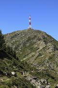 mt. patscherkofel with transmitter masts, tux alps, tyrol, austria, europe - stock photo