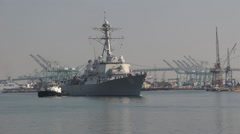 USS Spruance DDG-111 Stock Footage