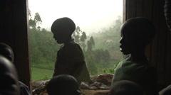 African Children from Batwa Tribe, Uganda Stock Footage