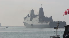 USS Anchorage LPD-23 Stock Footage