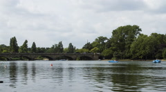 Time lapse of the Serpentine, London Stock Footage