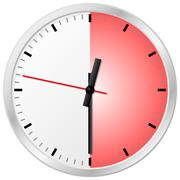 timer with 30 (thirty) minutes - stock illustration