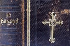 Protestant bible from 1900 Stock Photos